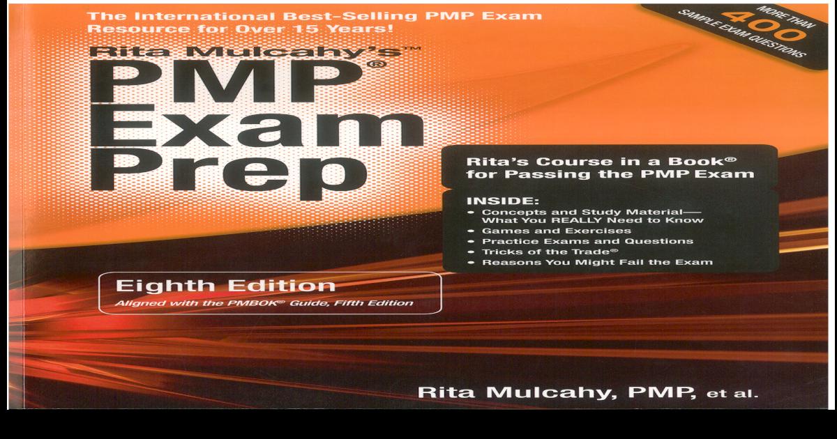 Rita Pmp Exam Prep 8th Edition Rita Mulcahypdf