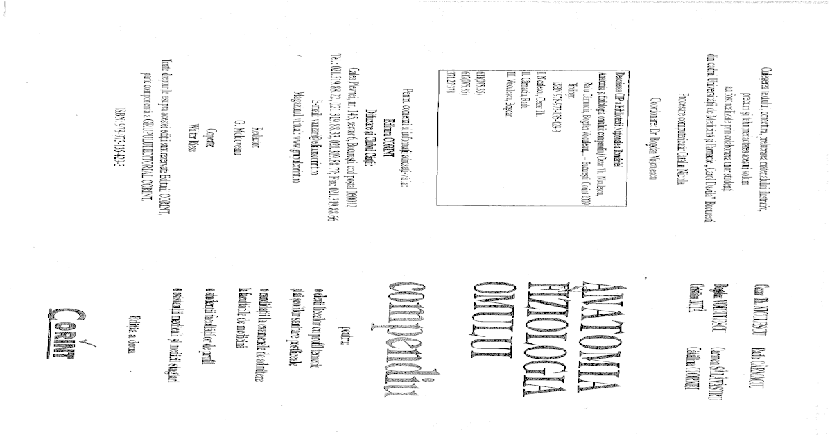 Anatomia Si Fiziologia Omului Compendiu Pdf