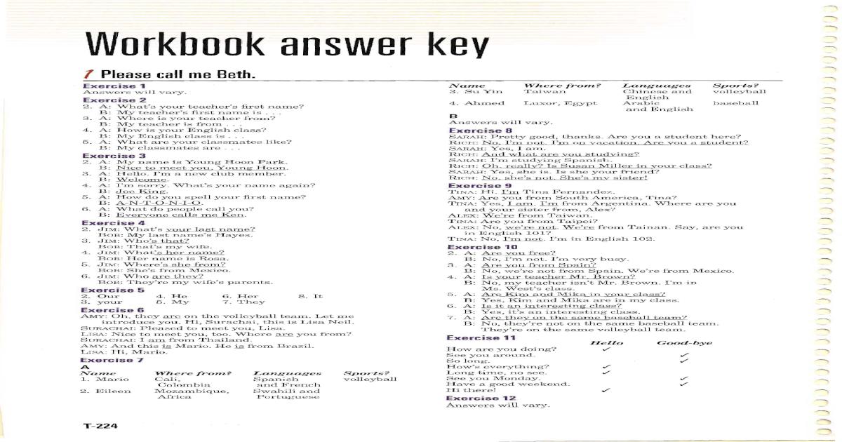 gateway b1 workbook answers unit 1
