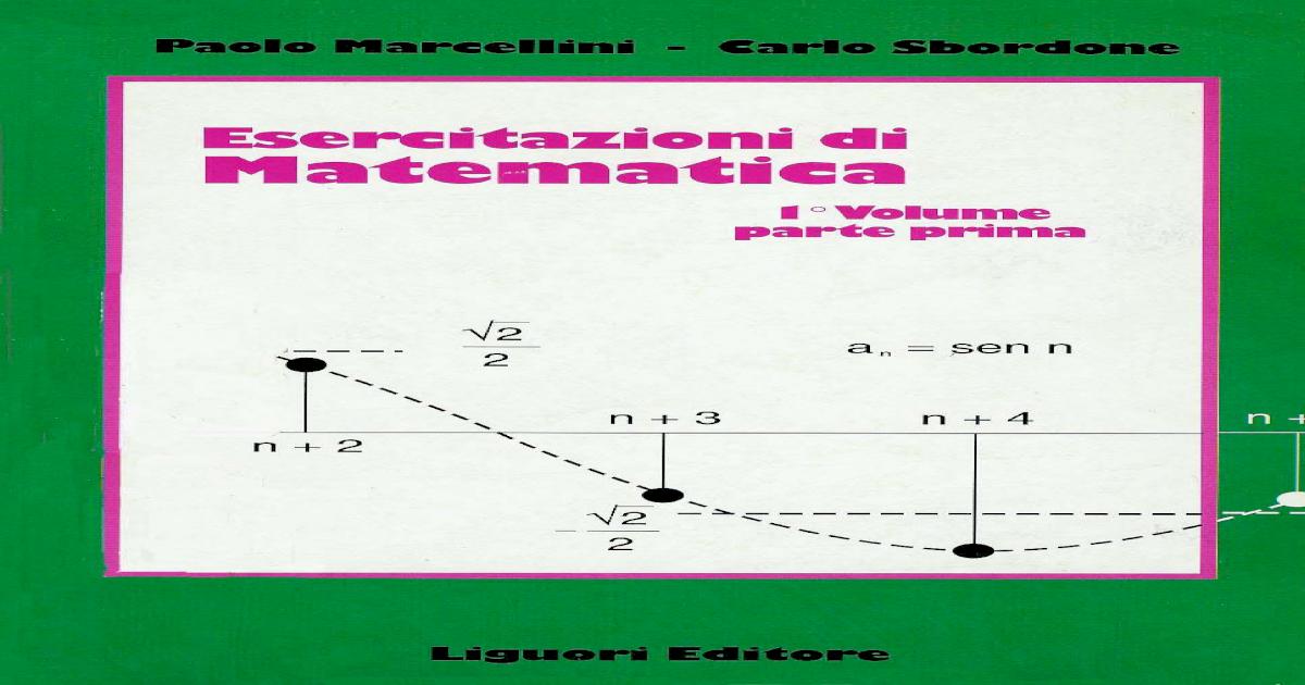 Marcellini Sbordone Analisi Matematica 2 Pdf