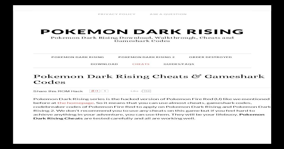 pokemon dark rising 2 download complete