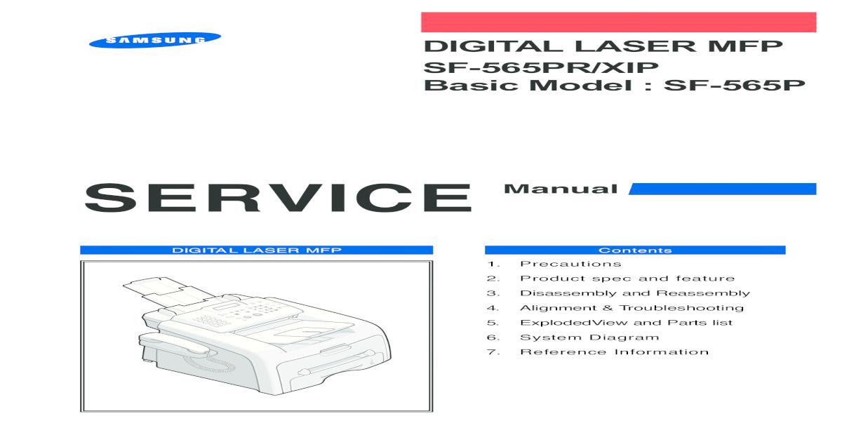 samsung fax facsimile sf 330 sf 331p sf 335t service manual