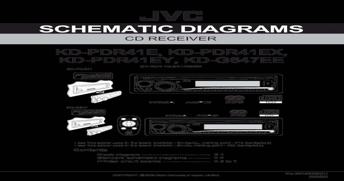 JVC Autoradio Schaltplan GEA10232ab MA398sch