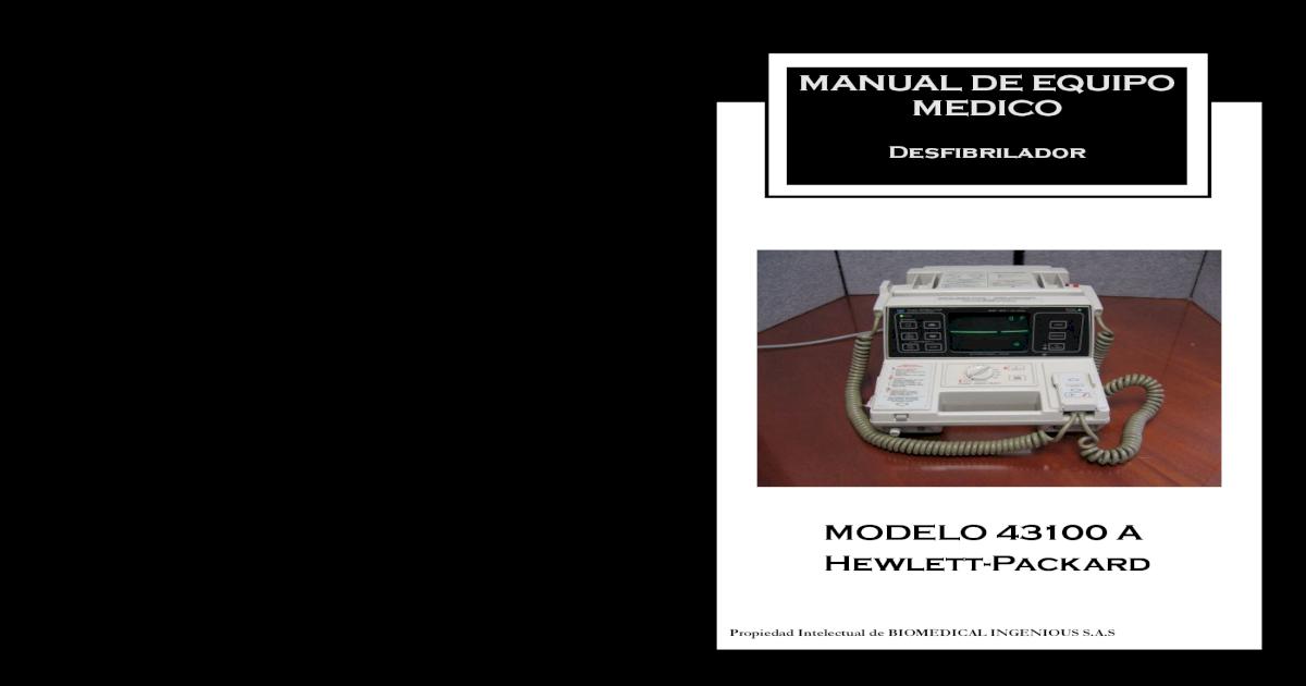 desfibrilador hewlett packard codemaster xl manual