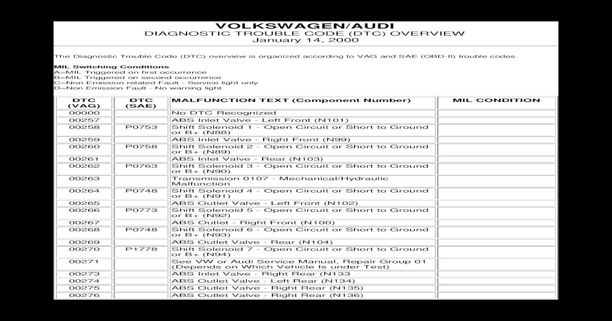 p0140 vw golf code