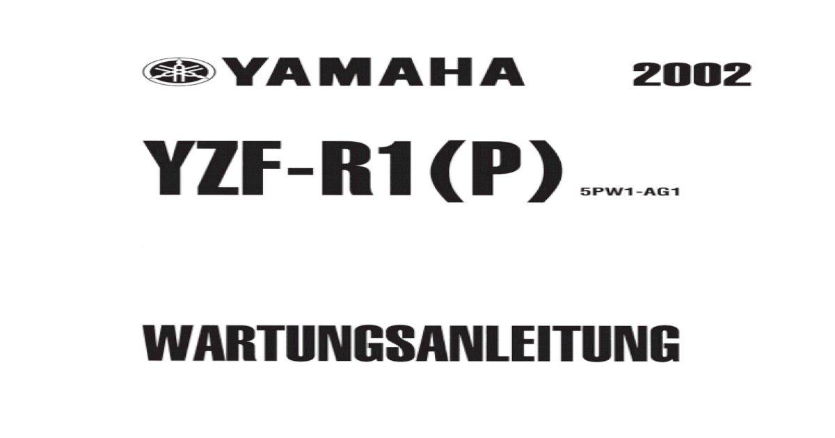 Yzfr1 Rn09 Service Manual German
