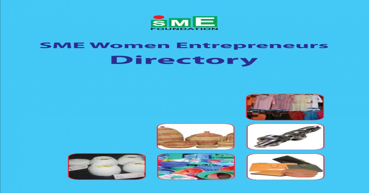 SME Women Entrepreneurs Directory 2014
