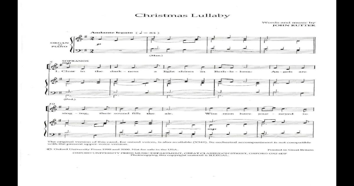 ... zoom christmas lullaby · ave maria satb john rutter ...