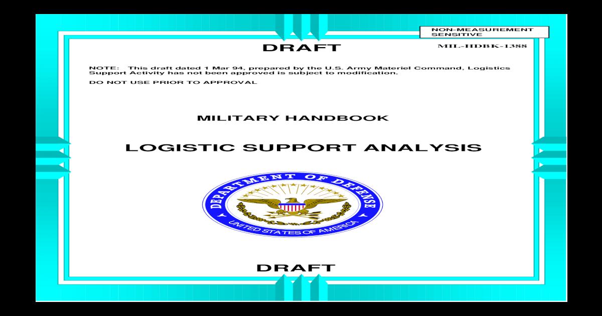 MIL-HDBK-1388 Logistics Support Analysis