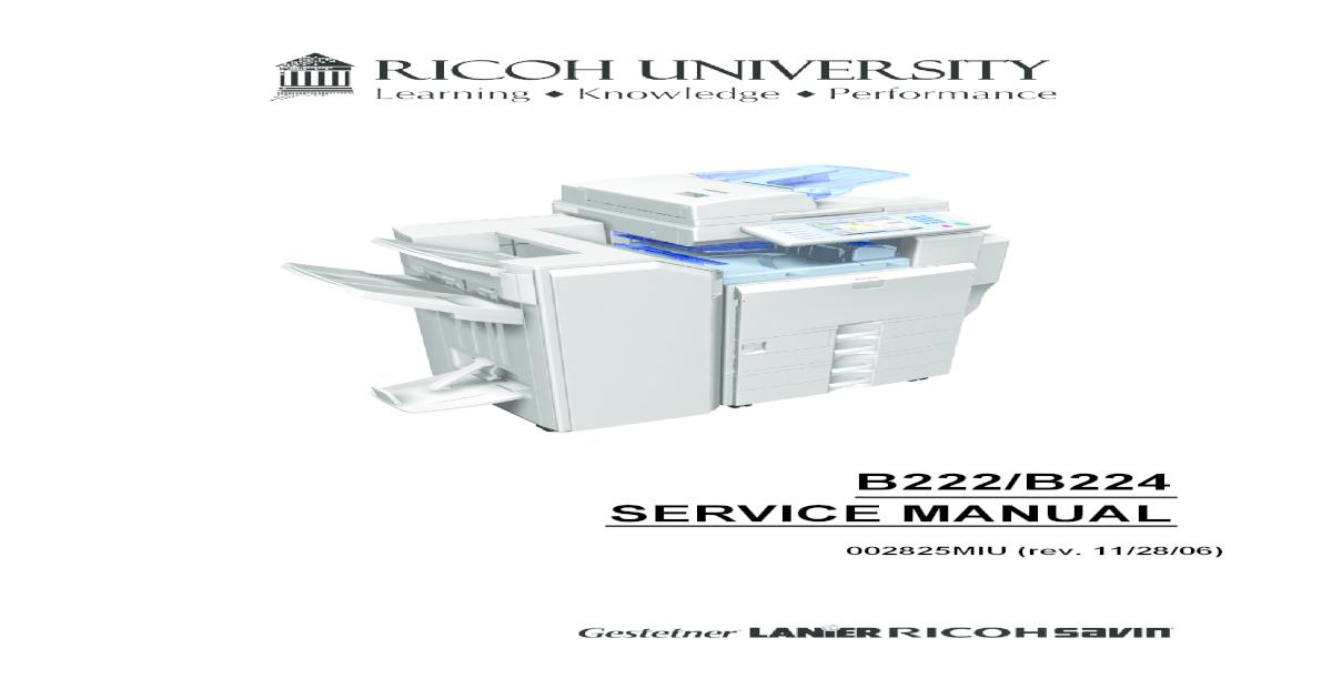 Ricoh 2014 Service manual
