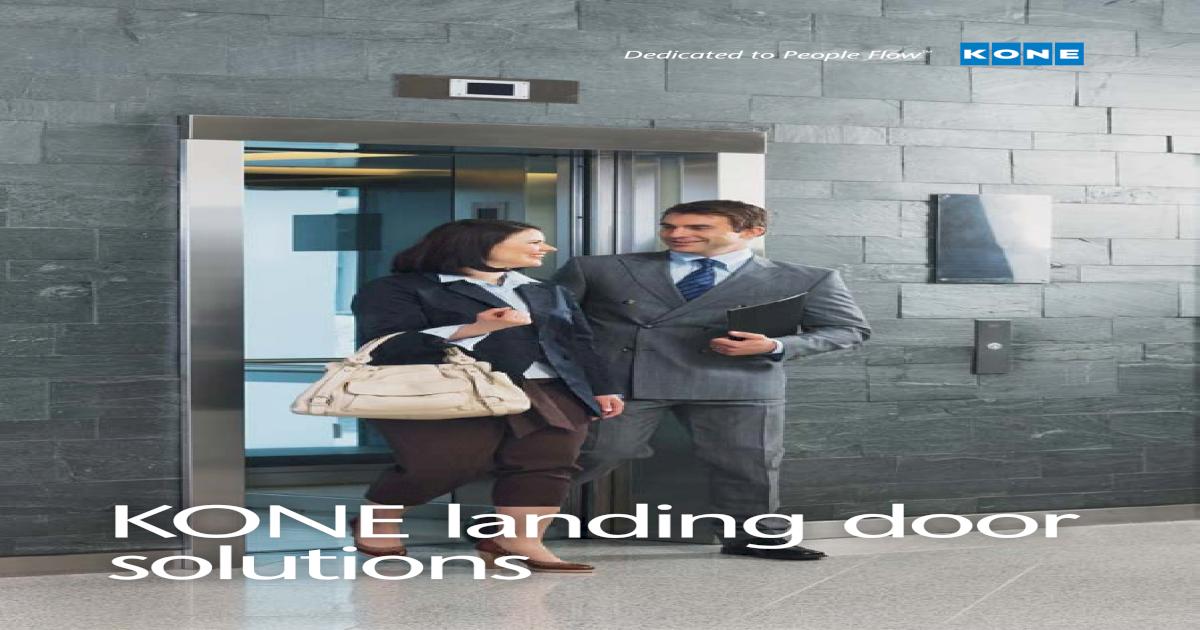 KONE landing door solutions