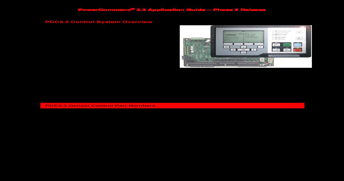 pcc1301 powercommand manual