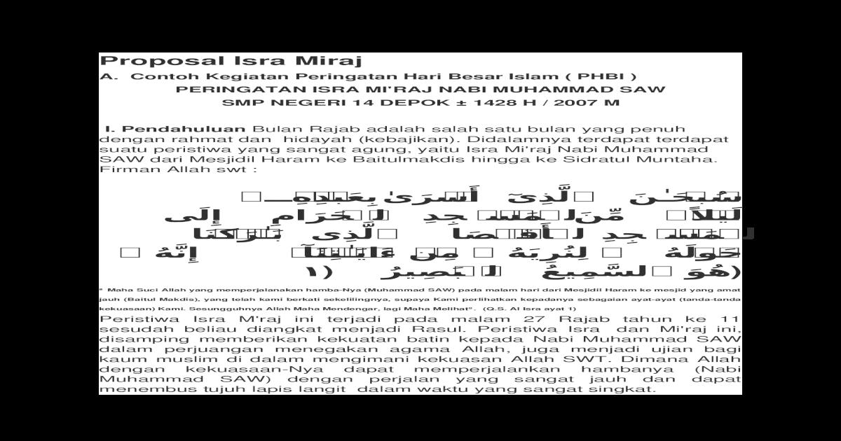 Proposal Isra Miraj