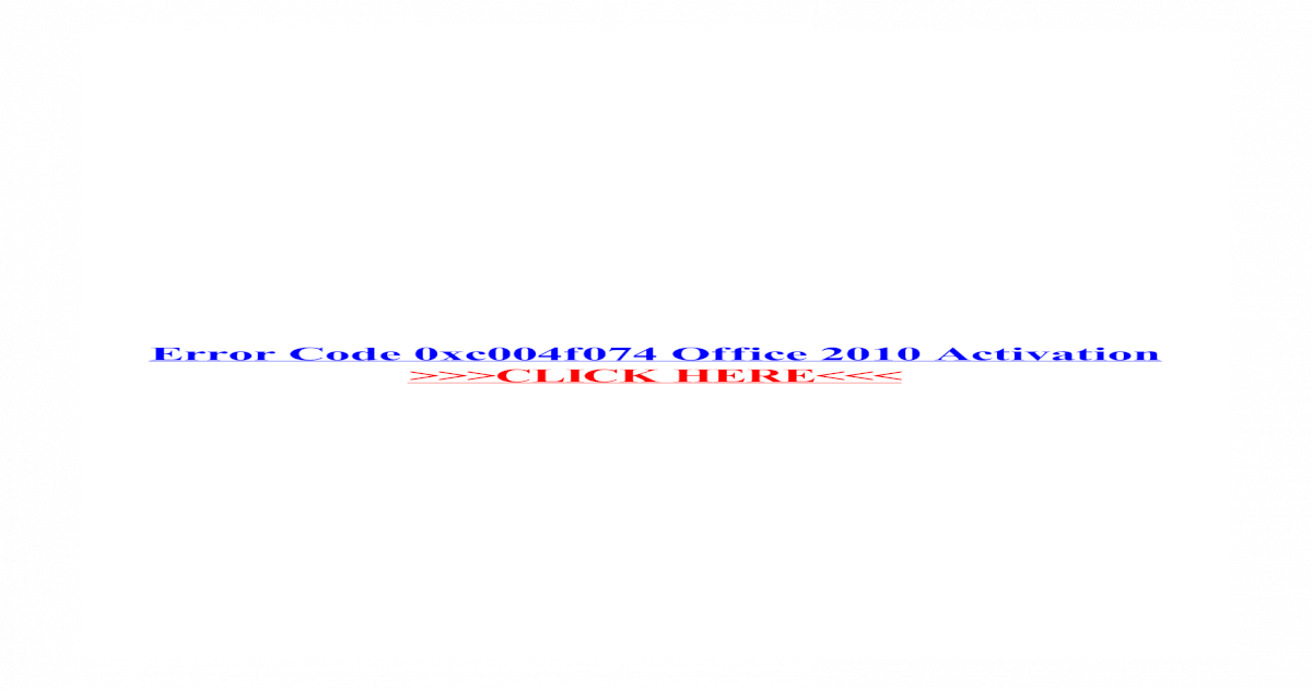 office 2013 activation error code 0x4004f00d