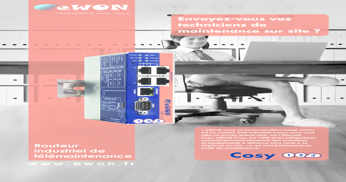 eWON Cosy - Routeur industriel de tlmaintenance