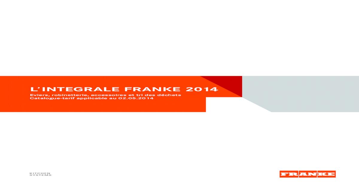 Catalogue Franke 2014