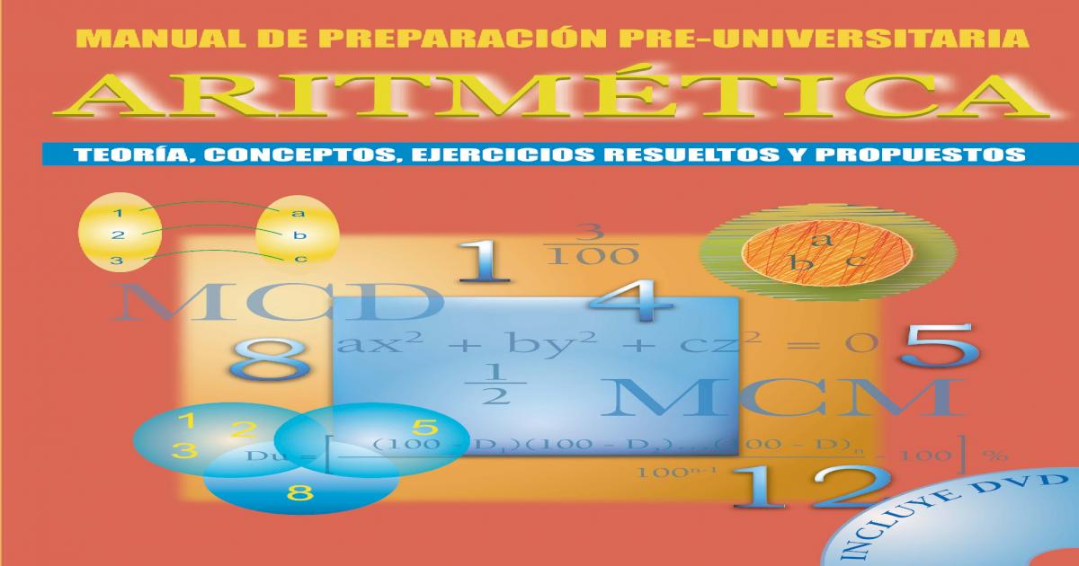 Manual De Preparacion Preuniversitaria Aritmetica Pdf
