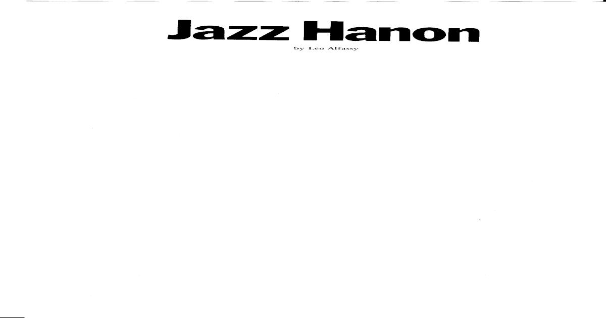 Hanon Jazz Piano Exercises Ebook Download