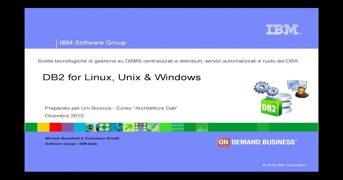 DB2 for Linux, Unix Windows - Aalto for Linux, Unix Windows